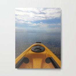 Kayaking Through the Sky Metal Print