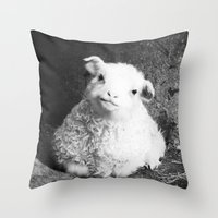 lamb Throw Pillows featuring Lamb by Garpa