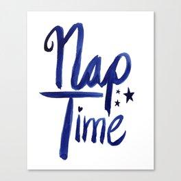 Nap Time | Lazy Sleep Typography Canvas Print