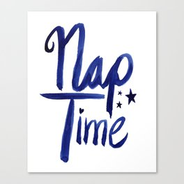 Nap Time | Lazy Sleep Typography Canvas Print