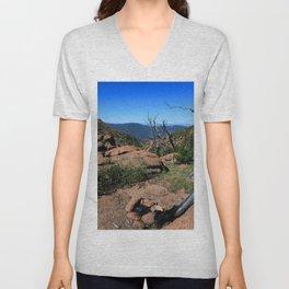 Watercolor Landscape, Lost Creek Wilderness 17, Colorado Unisex V-Neck