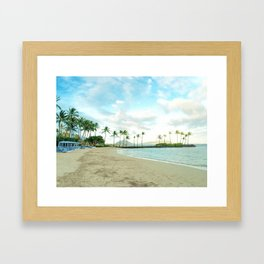 Kahala escape Framed Art Print