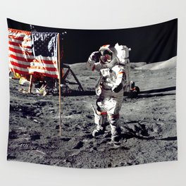 Salute on the Moon Wall Tapestry