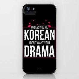 K-Drama Fan Pink iPhone Case