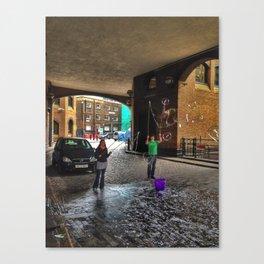 Bubbles on Clink Street Canvas Print