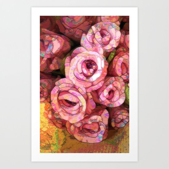 Vintage Wild Roses Art Print