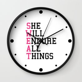 S.W.E.A.T Gym Quote Wall Clock