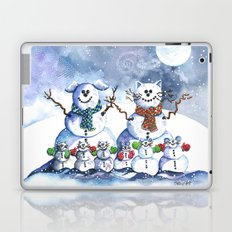 It's Snowing Cats and Dogs (and Mice too) Laptop & iPad Skin