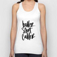 Baller, Shot Caller Unisex Tank Top