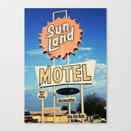 Sunland Motel Canvas Print