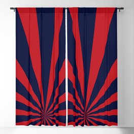 Retro dark blue and red sunburst style abstract background. Blackout Curtain