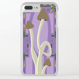 magic mushrooms Clear iPhone Case
