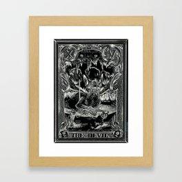 THE DEVIL of Tarot Cats Framed Art Print