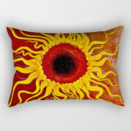 Psychedelic Susan 001, Sunflowers Rectangular Pillow