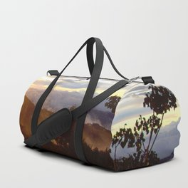 Sunset over the jungle in Costa RIca Duffle Bag