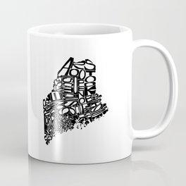 Typographic Maine Coffee Mug