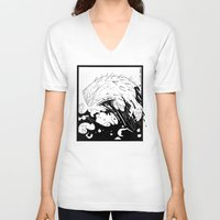 moby dick V-neck T-shirts featuring Moby Dick by JoJo Seames