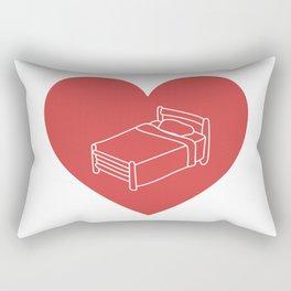 When you love sleep Rectangular Pillow