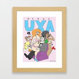 Oscar Uxa (inventor of the Pez dispenser) Framed Art Print