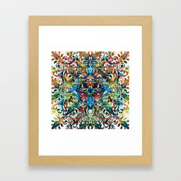 Bold Pattern Art - Color Fusion Design 8 By Sharon Cummings Framed Art Print