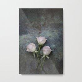Three roses I Metal Print