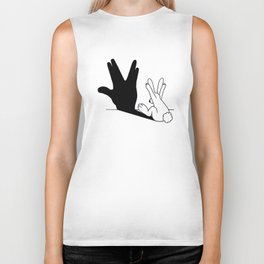 Rabbit Trek Hand Shadow Biker Tank