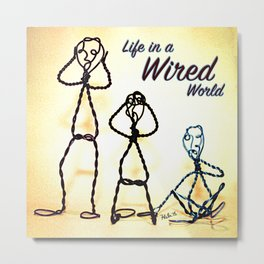 Life in a Wired World Metal Print