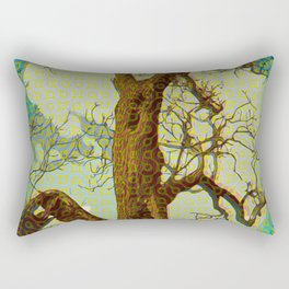 Spirit of the Wind; Green. Rectangular Pillow