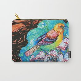 birds and mushrooms Carry-All Pouch