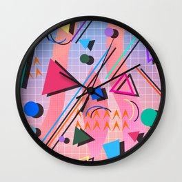 80s pop retro 2 Wall Clock