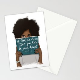 A Book Is A Dream That You Hold In Your Hand | African American Stationery Cards