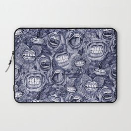 BITE ME roses and orchids INDIGO Laptop Sleeve