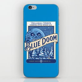 Blue Doom iPhone Skin
