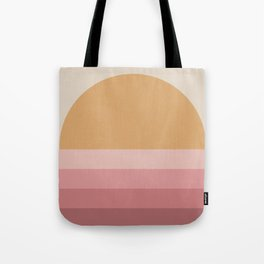 Minimal Retro Sunset / Sunrise - Warm Pink Tote Bag