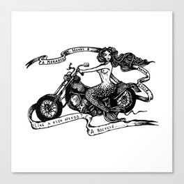 Biker Maid Canvas Print