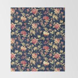 Shabby Floral Print Throw Blanket