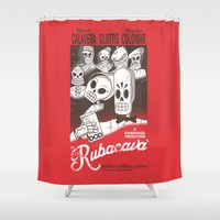 casablanca Shower Curtains featuring Rubacava by Hoborobo