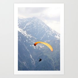 Parachute in Chamonix Art Print
