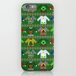 The Ugly 'Ugly Christmas Sweaters' Sweater Design iPhone Case