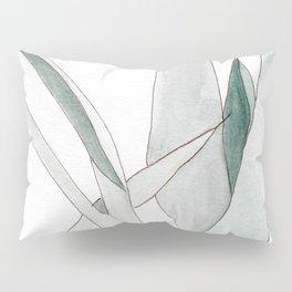 Watercolor greenery Pillow Sham