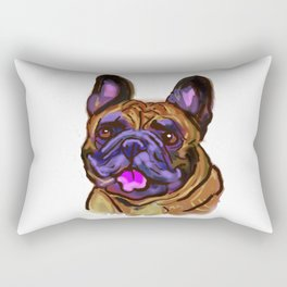 The happy French Bulldog Love of My Life Rectangular Pillow
