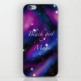 Black girl magic galaxy art iPhone Skin