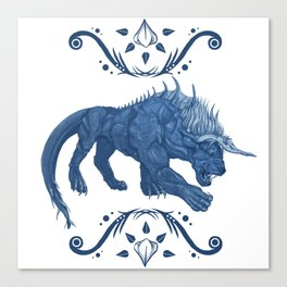 Behemoth Final Fantasy Canvas Print
