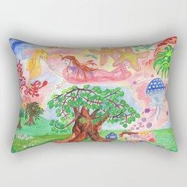 Medilludesign - Lucid dreams - flying in the sea Rectangular Pillow