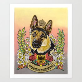 The German Shepherd Art Print
