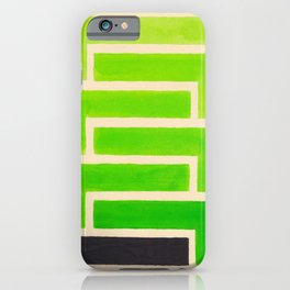 Lime Green Aztec Pattern iPhone Case