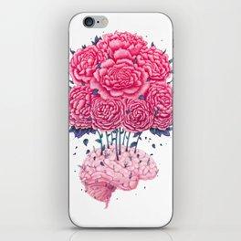 Creative Brains with peonies iPhone Skin