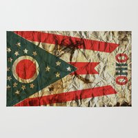 ohio Area & Throw Rugs featuring OHIO by Bili Kribbs