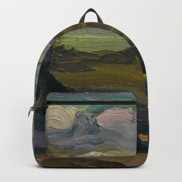 """George Wesley Bellows """"Rocks and coast"""" Backpack"""