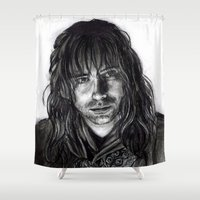 kili Shower Curtains featuring Kili by laya rose